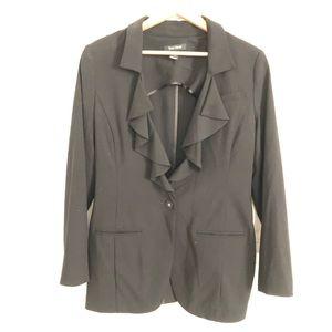 WHBM ruffle front blazer